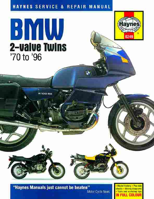 BMW 2-Valve Twins (1970 - 1996) Service Manual - Click Image to Close