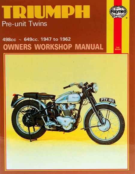 Triumph Pre-unit Construction Twins Owner's Workshop Manual by J