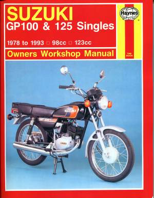 Suzuki GP100 and 125 Singles Owners Workshop Manual (Motorcycle