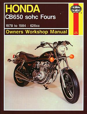 Honda CB650 Fours Owner's Workshop Manual (Motorcycle Manuals) b - Click Image to Close