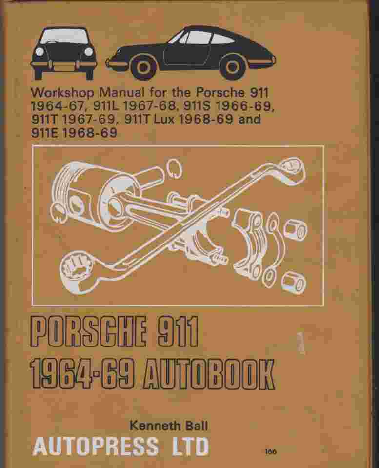 Porsche 911 1964~69 Autobook Workshop Manual 978-0851471662