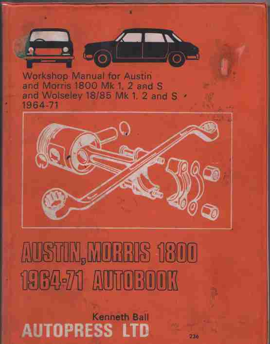 Austin Morris Wolseley 1800 1964-71 Autobook Workshop Manual B