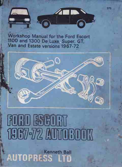 Ford Escort 1967-72 Autobook Workshop Manual 978-0851472751 - Click Image to Close