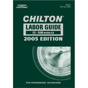 2005 Chilton Labor Time Guide (1981 To 2005) CD-ROM
