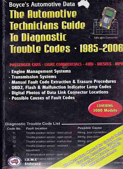 Automotive Technicians Guide To Diagnostic Trouble Codes 1985 To