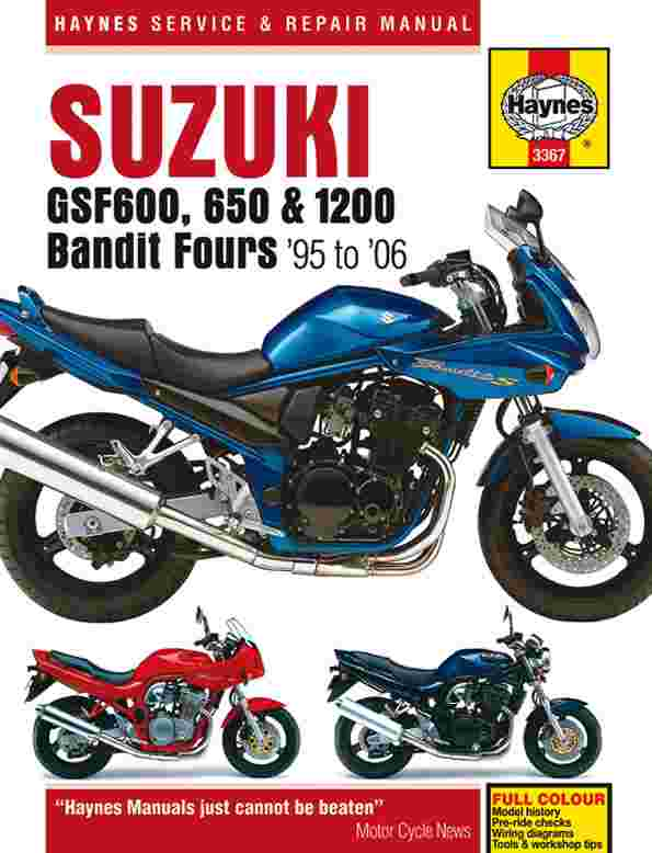 Suzuki GSF600 650 and 1200 Bandit Fours 1995 - 2006 (3367)