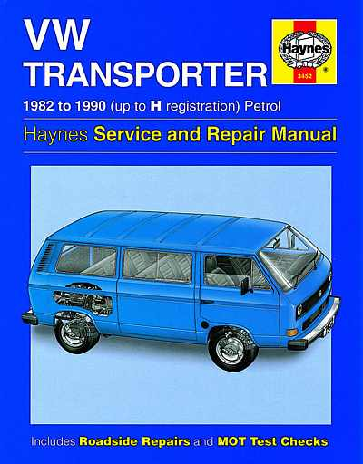 VW Transporter (1982-1990) Service and Repair Manual 3452