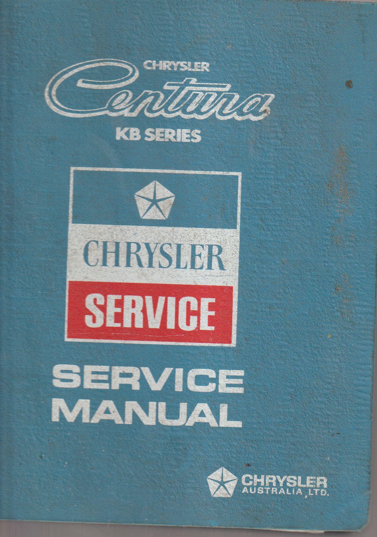 Chrysler Centura KB Series Service Manual 3884930