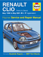 Renault Clio Service and Repair Manual (May 98-01) (Haynes Servi