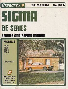 Sigma GE Series 1978-1980 Service & Repair Manual GR116A 2nd H