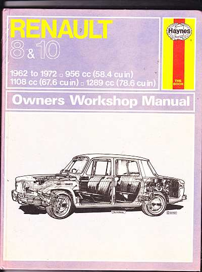 Renault 8 And 10 Owner's Workshop Manual HA079