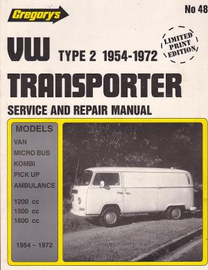 Volkswagen Transporter Type 2 1961-72 Workshop Manual 9780855660