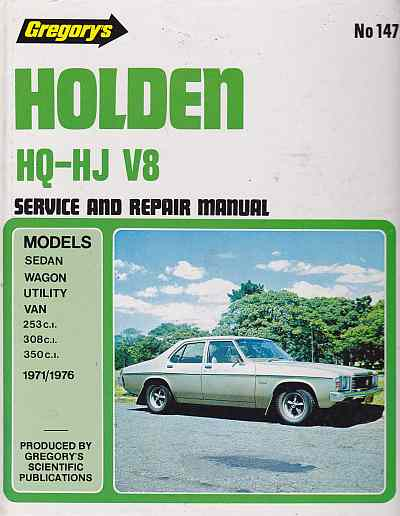 Holden HQ-HJ 8cyl (1971-76) Workshop Manual GR147