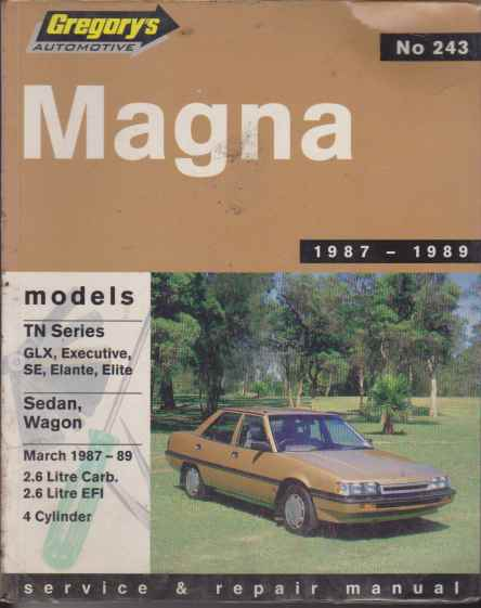 Mitsubishi Magna TM Series 1985 - 1986 Service and Repair Manua
