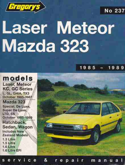 Mazda 323 FWD and Ford Laser KC - Meteor GC 1985 - 1989 Gregorys