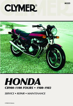 Honda CB900-1100 Fours 1980-1983 Item ID: M325