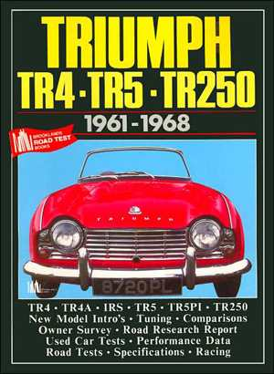 Triumph TR4 TR5 TR250 1961-68 Brooklands Books Road Tests Series