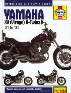 Yamaha XV (Virago) V - Twins 1981 - 2003 Haynes Owners Service a