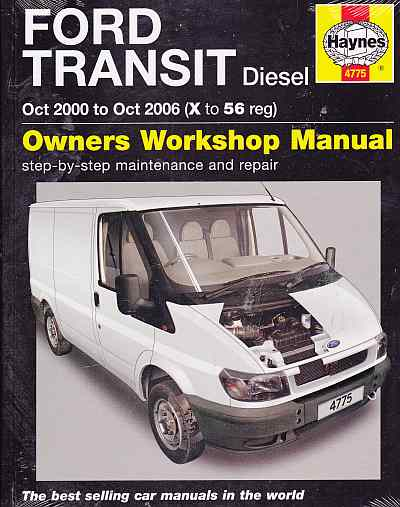 Ford Transit Diesel Oct 2000 To Oct 2006 Haynes Repair Manual