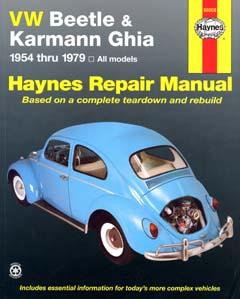 VW Beetle and Karmann Ghia (1954-79) Automotive Repair Manual (H