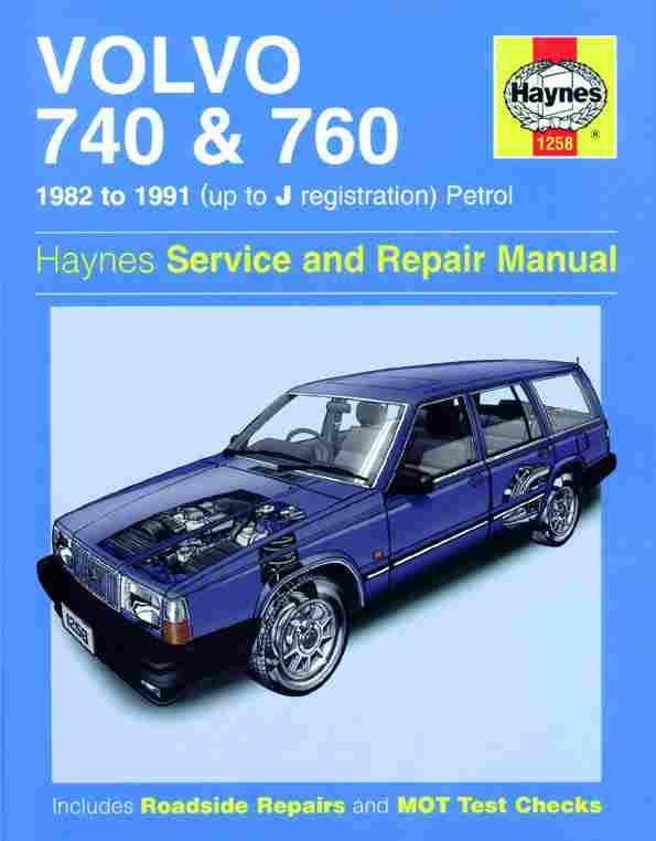 Volvo 740 and 760 1982 to 1991 Haynes Repair Manual