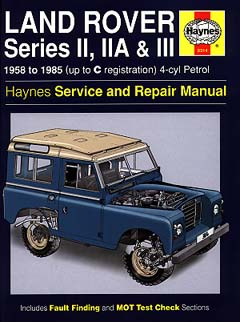 Land Rover Series II, IIA and III 4-cyl Petrol HA0314