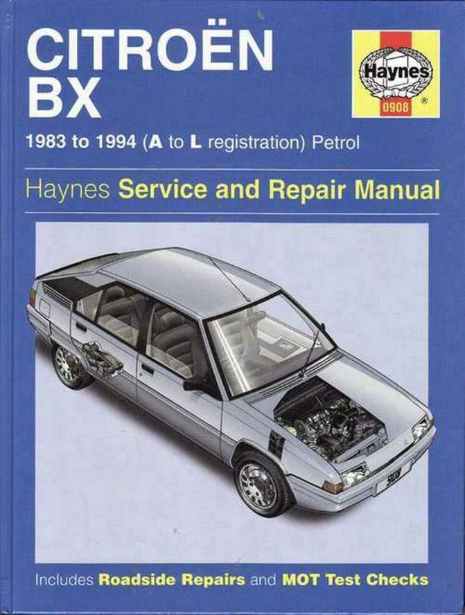 Citroen BX (Haynes Service and Repair Manual) 0908