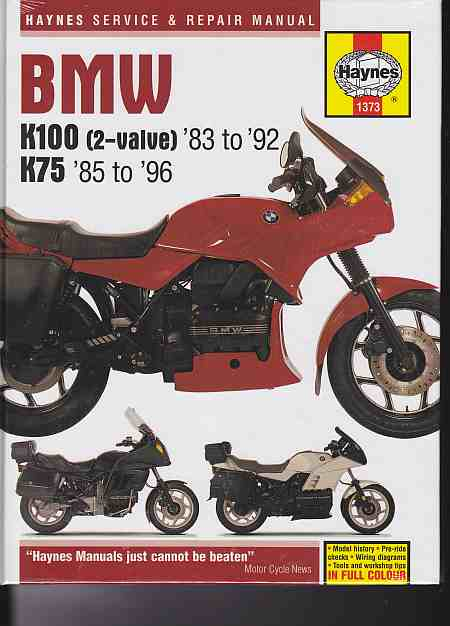 BMW K100 and 75 Owners Workshop Manual (K7585-8)(1373)