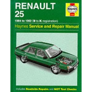Renault 25 Service Repair Manual (Haynes Service and Repair Manu