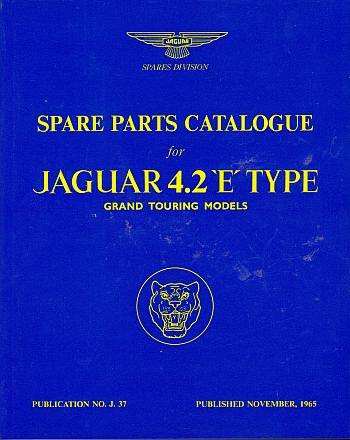 Jaguar E-Type 4.2 Series 1 Parts Catalogue (Official Parts Cat