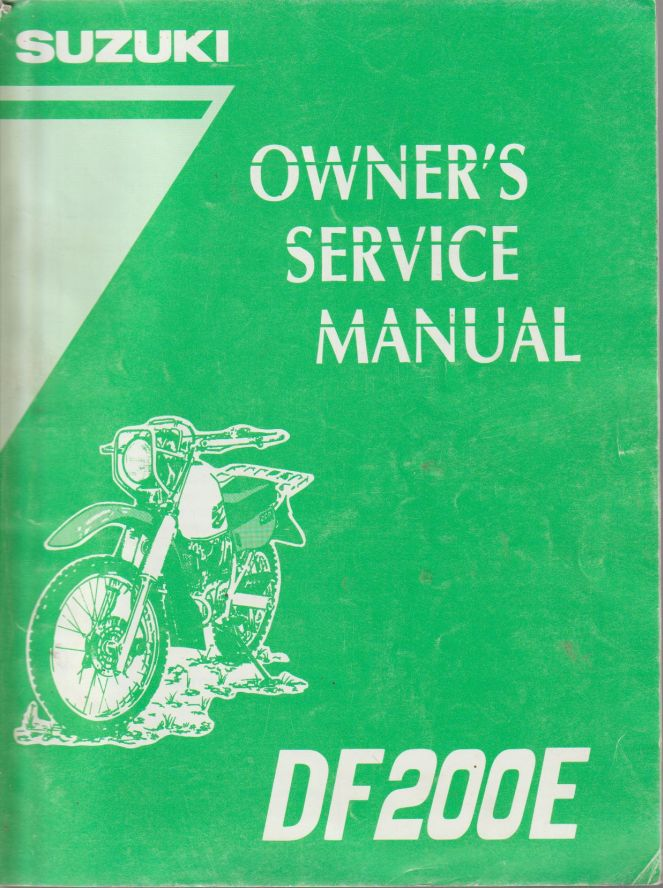 Suzuki DF200E Owners Service Manual 99011-42A27-24A