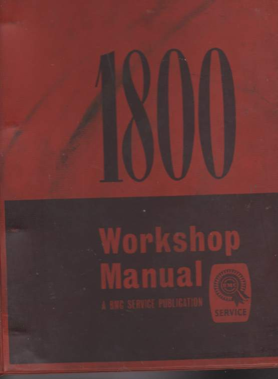 Austin and Morris 1800 Workshop Manual Publication AKD 4138D