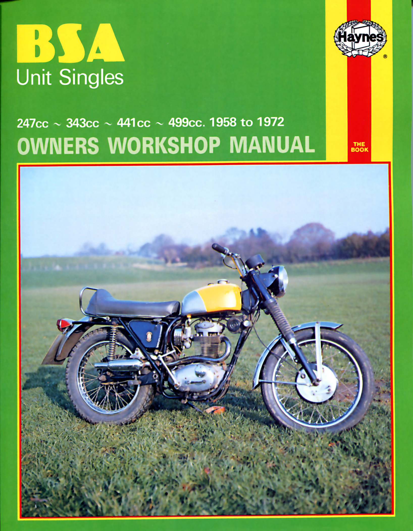 BSA Unit Singles 1958 - 1972 Owners Workshop Manual 127