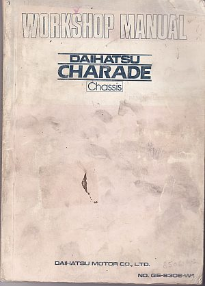 Daihatsu Charade Chassis Workshop Manual Published By Daihatsu M