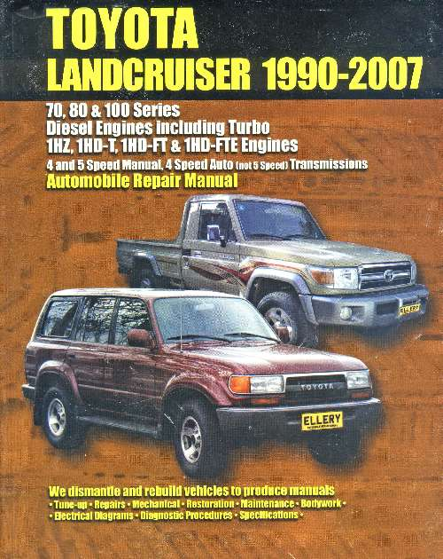 Toyota Land Cruiser Diesel 19902007 Repair Manual Epto18rhbevenyoungau: Toyota Hardtop Land Cruiser Wiring Diagram At Gmaili.net