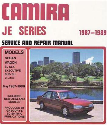 Holden Camira JE 1987 - 1989 Gregorys Repair Manual
