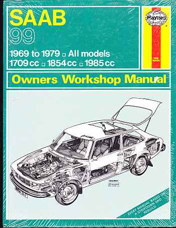 Saab 99 1969 To 1979 All Models Owners Workshop Manual A Haymes