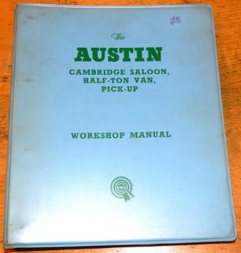 Austin Cambridge A40 A50 A55 Factory Workshop Repair Manual