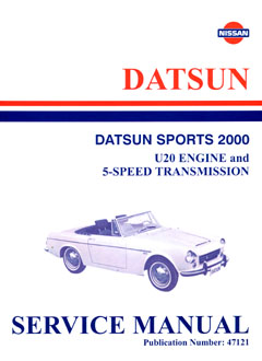 Datsun Sports 2000 Repair Supplement - Use With 45121