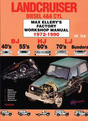 Toyota Land Cruiser Diesel 1972 - 1990 BJ HJ LJ Workshop Manual