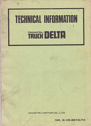 Daihatsu Delta Truck Technical Information Sept 1982