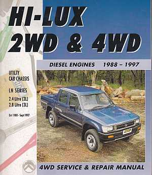 Toyota Hilux Diesel (1988-97) 2WD and 4WD Service and Repair Man - Click Image to Close