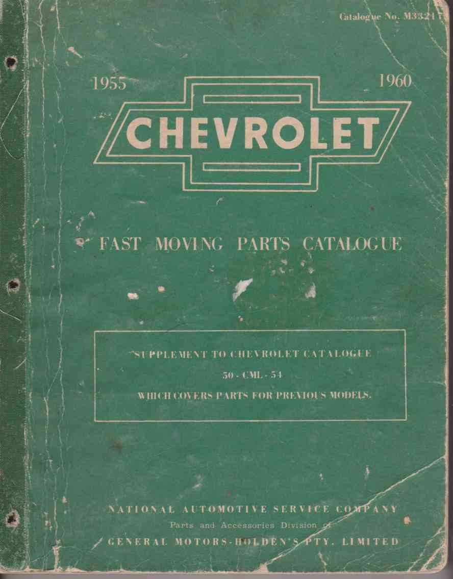Chevrolet 1955 to 1960 Fast Moving Parts Catalogue M33217