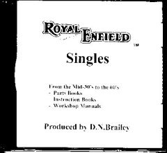 Royal Enfield Singles Parts Books, Owner's Manuals & Workshop Ma