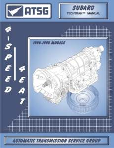 Subaru (4EAT) 4 Speed Automatic Transmission Manual 1988 To 1998